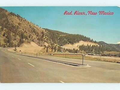 Pre-1980 ROAD OR STREET SCENE Red River New Mexico NM hJ6121