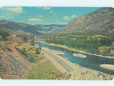 Pre-1980 ROAD OR STREET SCENE Missoula Montana MT hJ6238