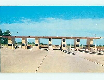 Pre-1980 INDIANA TOLL ROAD AT OHIO STATE LINE Fremont - York Indiana IN hJ6202