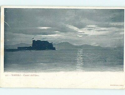 Pre-1907 BUILDING ON WATER Napoli - Naples Italy hJ6587