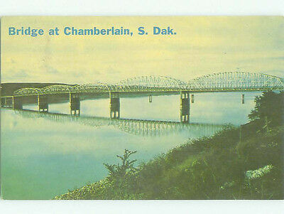 Pre-1980 BRIDGE SCENE Chamberlain South Dakota SD HJ0878