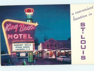 Unused Pre-1980 MOTEL SCENE St. Louis Missouri MO HJ8543