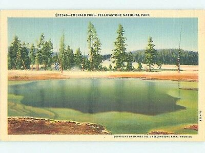 Unused Linen YELLOWSTONE National Park Wyoming WY hk6444