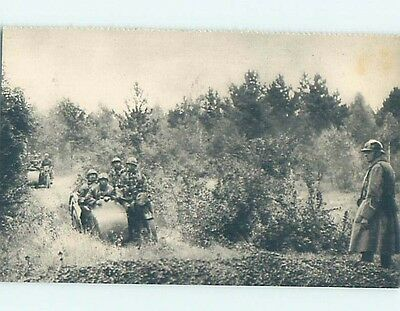 Pre-Linen foreign SIDECAR MOTORCYCLES USED BY ARMY SOLDIERS IN FRANCE HL9757