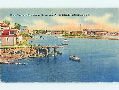 Linen WATER SCENE Portsmouth New Hampshire NH hk2679