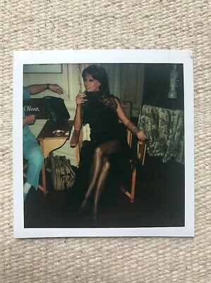 Sophia Loren 1979 Epic behind The scenes Candid poloroid - Firepower Movie - Wow