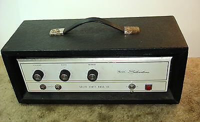 Silvertone / Sears Solid State Bass 35 Mdl 1463 Guitar Amp Head Only TESTED