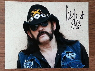 Lemmy Motorhead Original Hand Signed Autograph 8 x 10 Photo with COA RIP