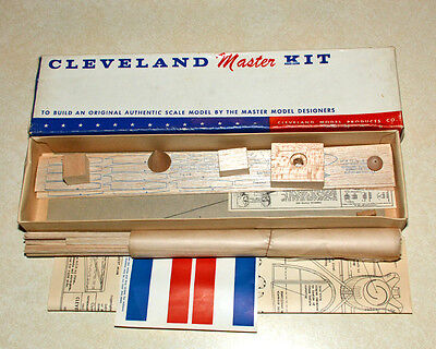 Cleveland Supermarine S6-B Rubber Band Powered Model Airplane Kit
