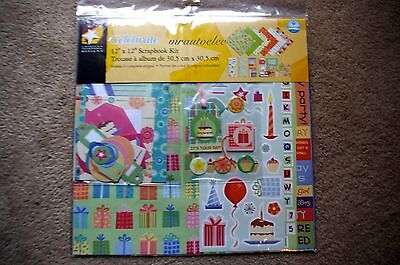 American Designs 12x12 Celebrate Scrapbook Kit Birthday Party Balloons Cake