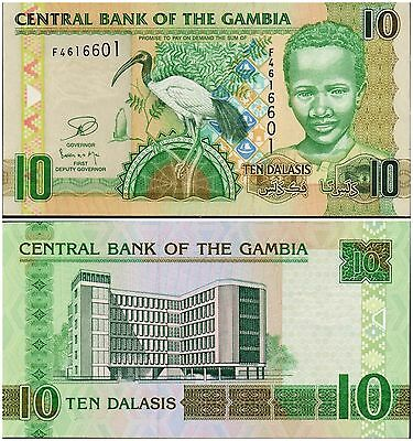 Gambia,  10 Dalasis,  2013,  P-New,   Unc Banknote  Africa