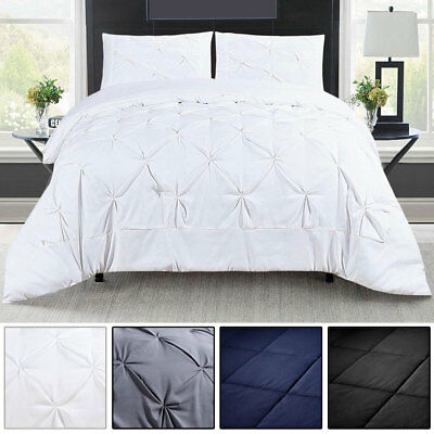 3 Piece Comforter Set Pillowcases Bedspread Coverlet Bedding Quilt King Queen