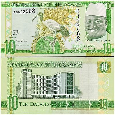 Gambia,  10 Dalasis,  2015,  P-New,   Unc Banknote  Africa
