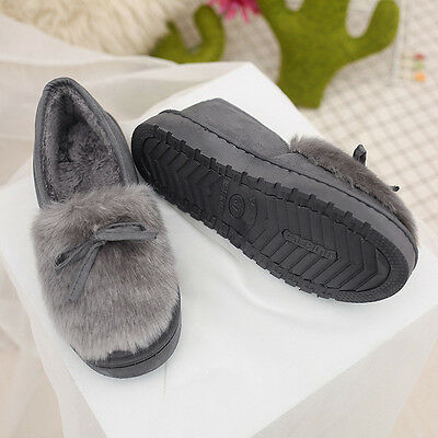 Women Casual Slippers Indoor/Outdoor Shoes Moccasin Winter Fur Lined Snow Boots
