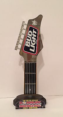 """Bud Light Vintage Guitar Neck Beer Tap Handle 10"""" Tall - Excellent Condition"""