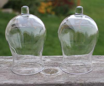 Tall Clear Glass Votive Cups GLOBE Home Interiors Lot of 2 for Sconces Candles