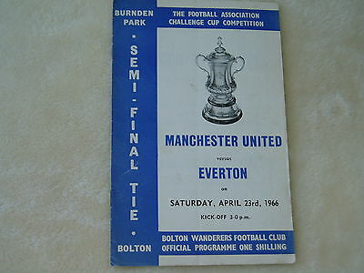 "Manchester  United v Everton..PROGRAMME......""F.A.Cup..SEMI""..23rd April 1966"