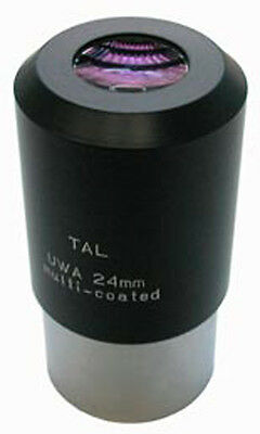 """24 MM 2"""" HIGH-QUALITY TAL Multicoated ULTRA WIDE ANGLE 80° Eyepiece. 8 LENSES!!!"""