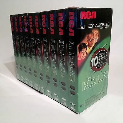 NEW RCA T-120 Blank VHS VCR Video Cassette Tapes *10 pack* ~ 6 hour ea.  Sealed