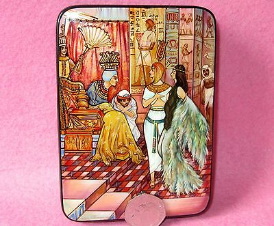 Russian LACQUER Box hand painted Fairy Tale The Marsh Swamp King's Daughter GIFT