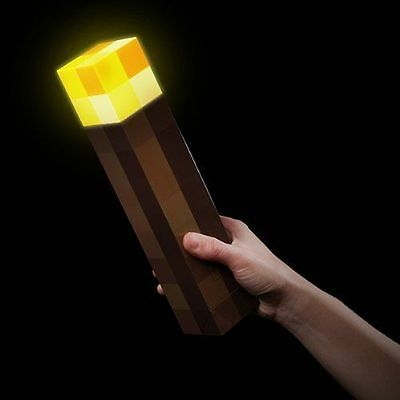 Minecraft LED Light Up Wall Torch Mountable Night Lamp Kids Fun Toy Gamer Gift