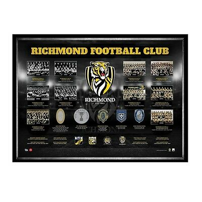 Richmond Historical Series AFL OFFICIAL Print Framed ON SALE NOW RRP $295.00