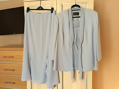 Size 24 Frank Usher Wedding,  Cruise, Mother of the Bride Suit Costume 3 Piece