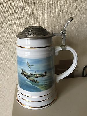 Crestley Collection Limited Edition 8303 Tankard Dawn Patrol The Spitfire