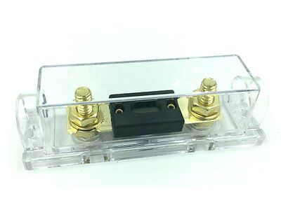 ANL-50A ANL Fuses Flat Fuse 50Amp Gold Plated With Fuse Holder