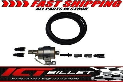Fuel Filter Swap Hose Kit w/ Internal Regulator LS Swap LS1 LS2 LS3 6AN Conversi