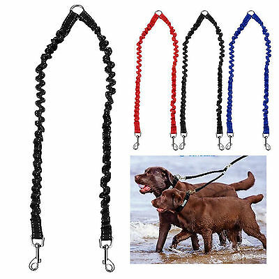 2017 New Double Dog Coupler Twin Lead 2 Way Two Pet Dog Walking Leash Safety hot