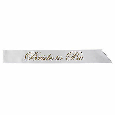 2017 bride to be White Sash Hens Night Wedding Shower Hen Party Accessory new