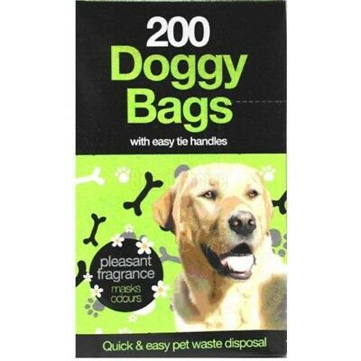 200 x DOGGY BAGS - Scented Pet Pooper Scooper Bag Dog Cat Poo Waste Toilet Poop