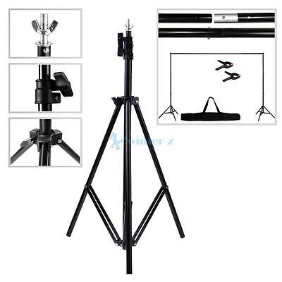 Photography Studio Background Support Stand 2 Telescopic Bar & 2 Stents Kit UK