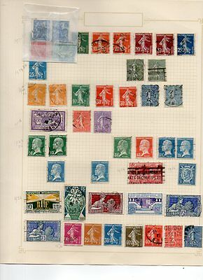 FRANCE - VINTAGE COLLECTION of POSTAGE STAMPS 1917 - 1925