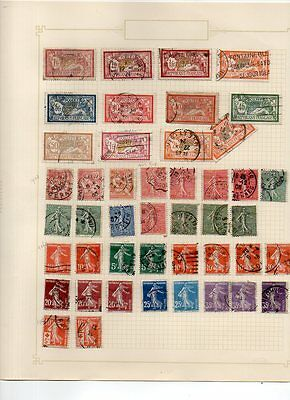FRANCE - VINTAGE COLLECTION of POSTAGE STAMPS 1900's