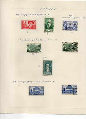 FRANCE - VINTAGE COLLECTION of POSTAGE STAMPS 1937 - 1938