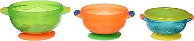 Munchkin 3 Count Stay Put Suction Bowl Pack of 2 , Multicolored