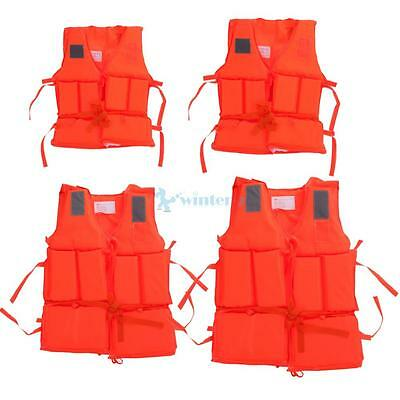 Polyester Adult Kid Life Jacket Universal Swimming Boating Drifting Ski Vest UK
