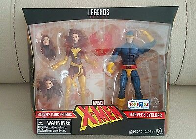 DARK PHOENIX & CYCLOPS 2 PACK - Marvel Legends Series X-MEN RARE TRU - SOLD OUT!