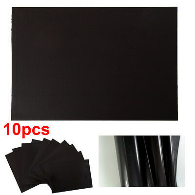 10 A4 Self Adhesive Magnetic Sheets 0.4mm Flexible for Car Signs & Die Storage