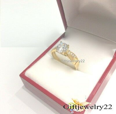Engagement Ring Round Cut D/VVS1 Diamond 14K Yellow Gold Wedding Solitaire Ring