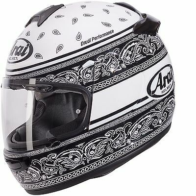 Arai Chaser V Ribbon Motorcycle Motorbike Full Face Helmet - White / Black