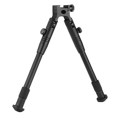 "8"" - 10"" Adjustable Metal Spring Bipod Return Spring Rest With Barrel Mount V5O9"