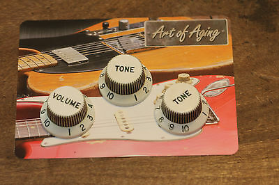 """Aged ST Knobs """"70's style"""" fit to Strat®""""Art of Aging"""" Series Europe No'1"""
