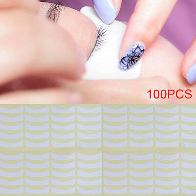 100 Pairs of Eyelash Lash Extension Tinting Under Eye Lint Free Pads Patches UK