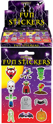 12 Packs Halloween Spooky Stickers Trick or Treat Party Bag Fillers