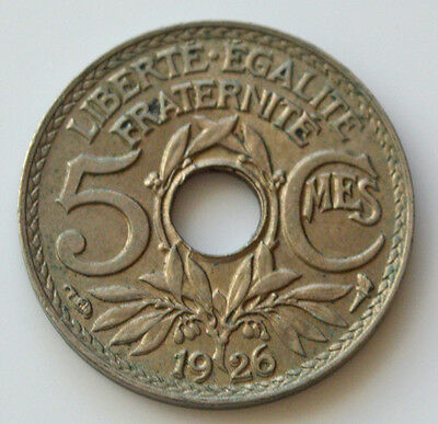 French 1926 5 Centimes.       (J1)