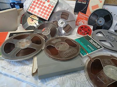 9 used Reel to Reel tapes + empty spool