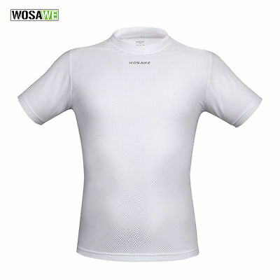 WOSAWE Breathable Shirts Outdoor Sports Cycling Jerseys Quick Dry Short Sleeves